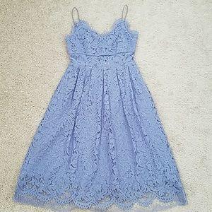 Lavender lace cami dress